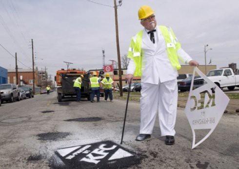 kfc pothole