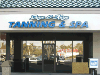 NOT THE TANNING SALONS