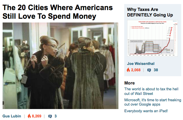 BUSINESS INSIDER: MORE LIKE THIS PLEASE