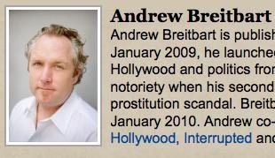 ANDREW BREITBART: JUST LIKE NICK DENTON BUT FUNNER