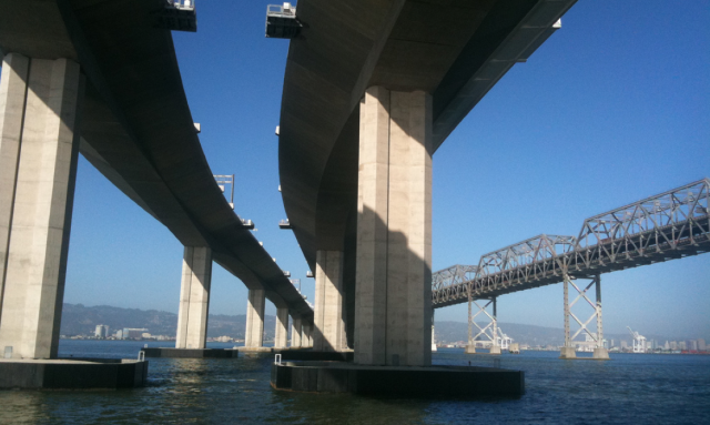 THE UNDERBELLY OF THE BAY BRIDGE