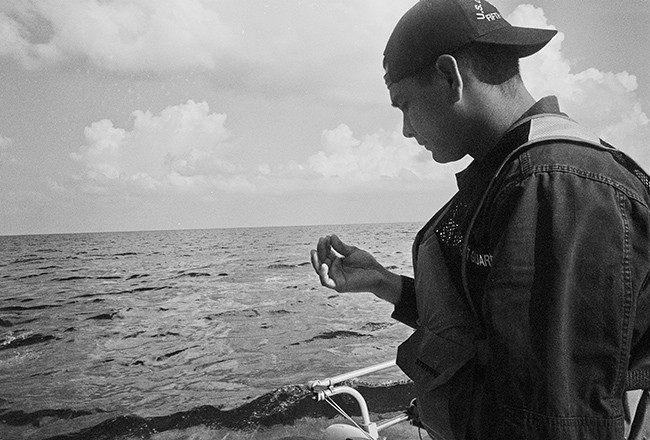 A Coast Guard member.