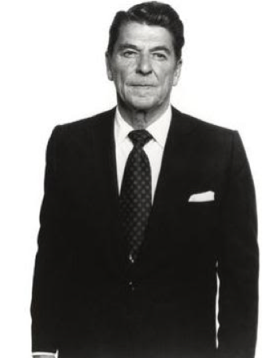 reagan suited up