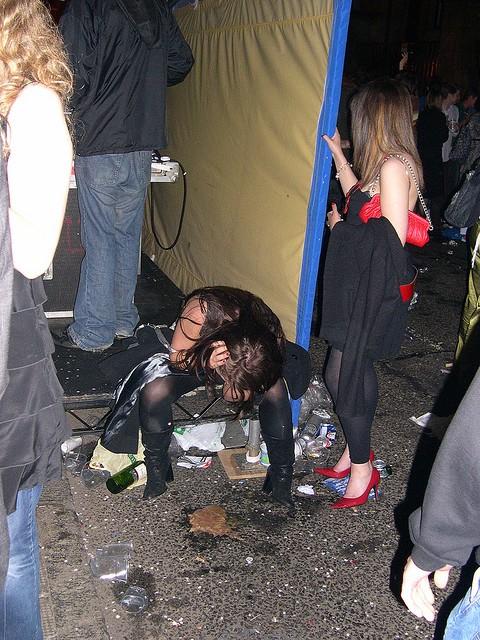 Sexy girl vomit puke puking vomiting gagging barf - 4 3
