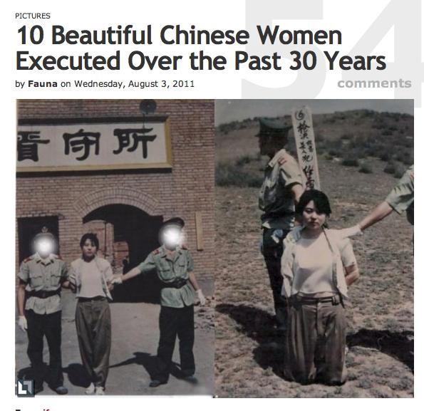 executed girl Beautiful chinese