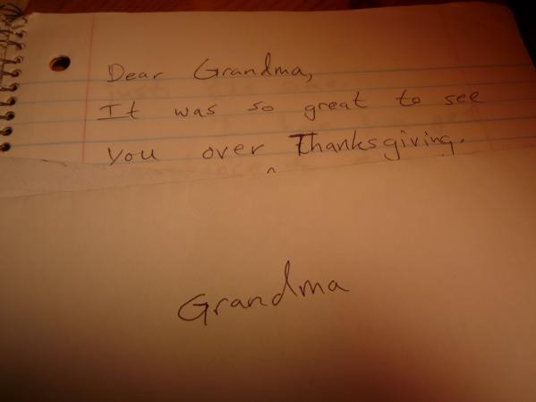 Why Not Write Your Grandparents A Letter