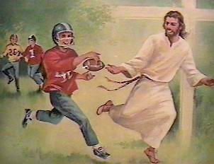 Hey why isn't that Jesus football guy, Tebow, in the Super Bowl?