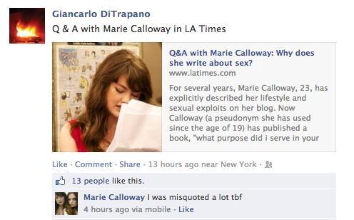 Misquoted Calloway!