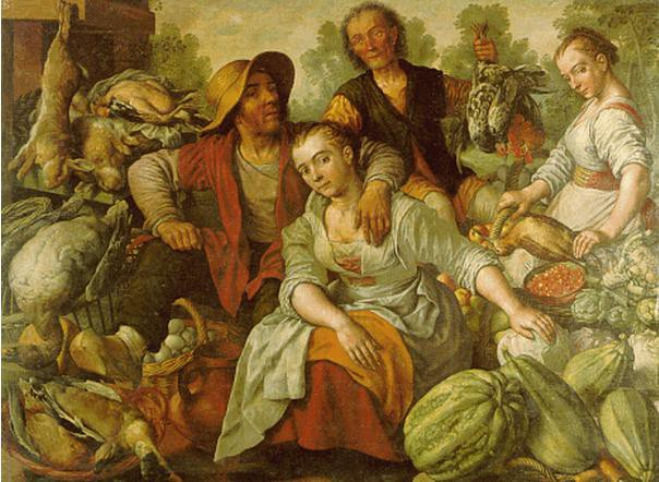 "Joachim Beuckelaer (Dutch, 1533–1574), ""The Country Market,"" undated."