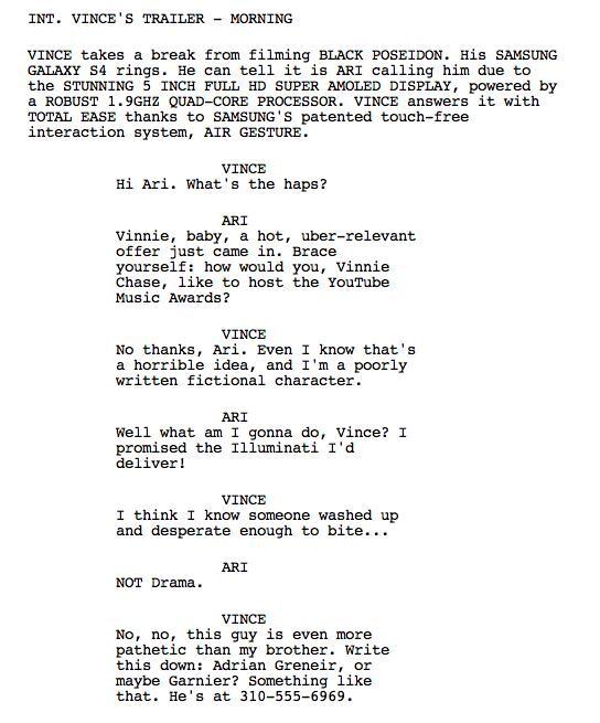 Movie film scripts