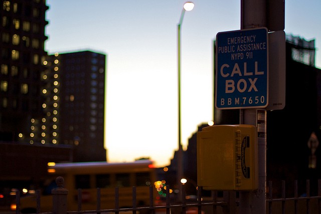 Where are the call boxes for existential emergencies?