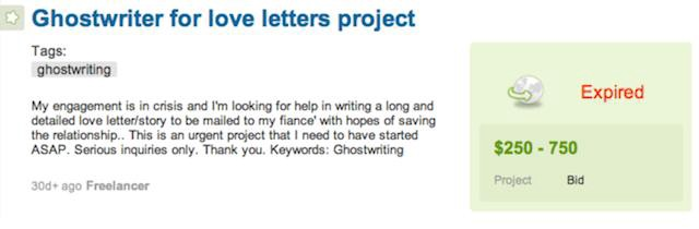 I Was A Love-Letter Ghostwriter - The Awl