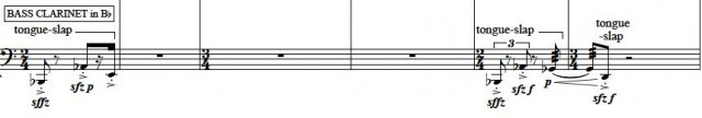 Clarinet Tongue Slap