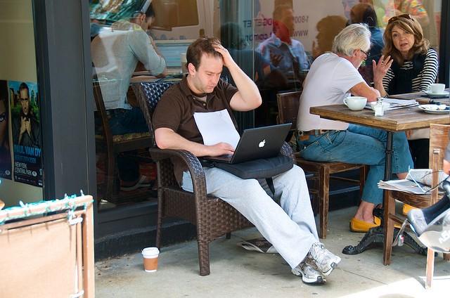 a writer, writing