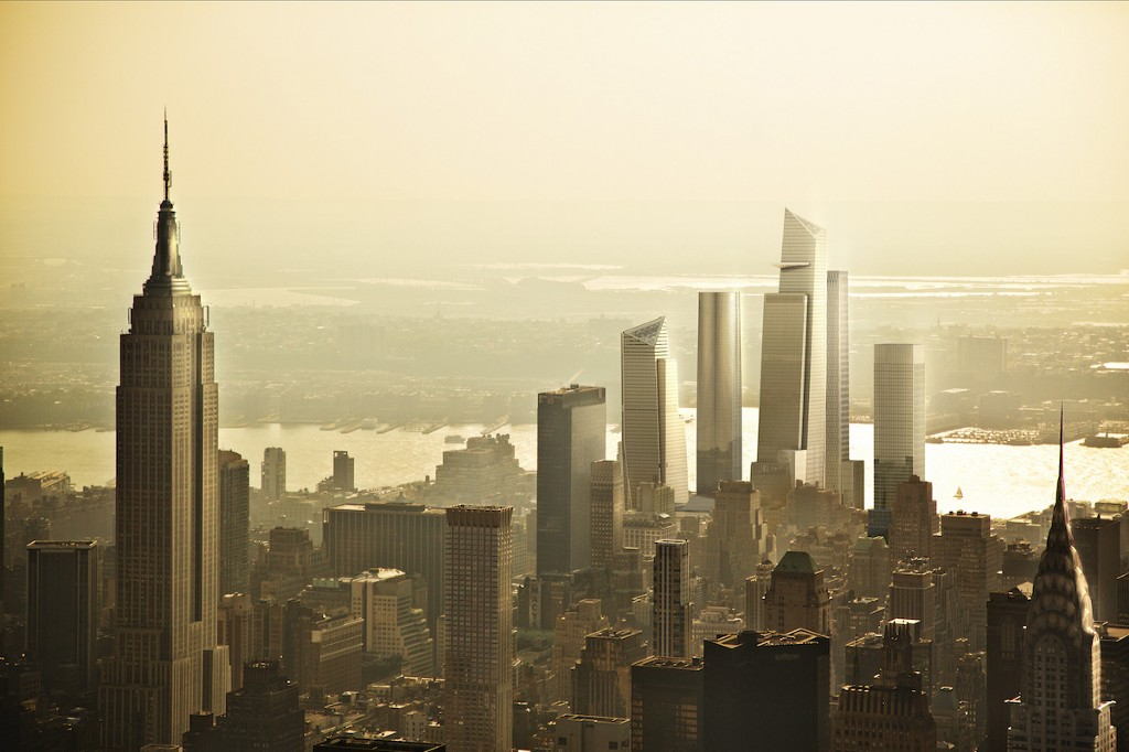 Hudson Yards View from Empire State Building - Courtesy Related-Oxford
